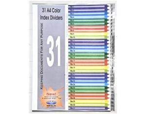 Chia File nhựa 1-31