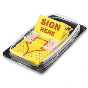 Giấy dính Sign Here