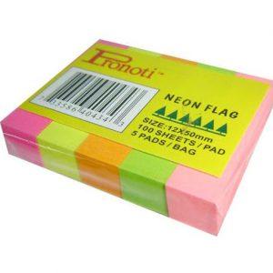 Giấy Notes ký 5 màu giấy 12x50mm